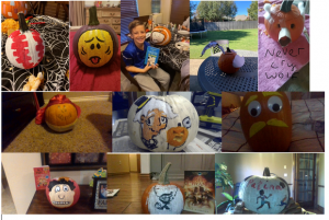 pumpkin decorating contest entry photo collage